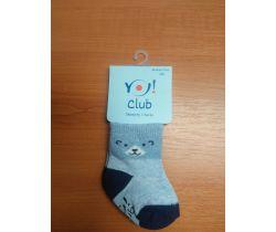 Ponožky froté Yo Blue Bear Smile