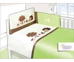 Povlečení bavlněný satén zelené Baby´s Zone Hedgehogs