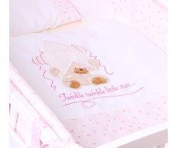 Povlečení do postýlky LittleUp Lux Twinkle Star Pink