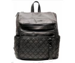 Přebalovací batoh Little Company Lisbon Quilted prošívaný Black