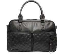 Přebalovací taška Little Company Berlin Quilted Black Prošívaná