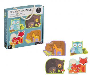 První puzzle Petitcollage Lesní zvířátka