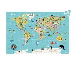 Puzzle 500 dílků Vilac Mapa světa