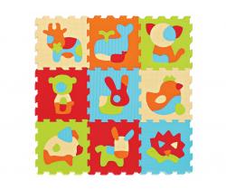 Puzzle pěnové  90x90 cm Ludi Zvířatka