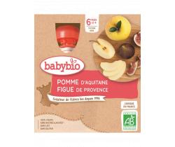Pyré jablko a fík 4x90g Babybio