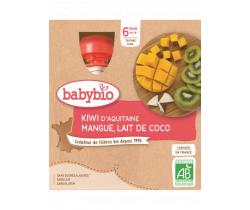 Pyré kiwi, mango a kokosové mléko 4x90g Babybio
