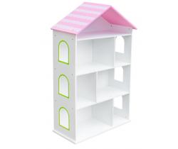 Regál s růžovou střechou Wooden Toys