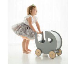 Retro kočárek pro panenky BabySteps