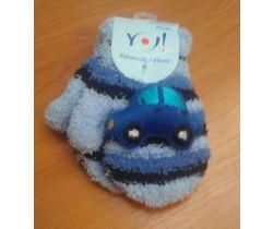 Rukavičky se obrázkem Yo Dark Blue Car