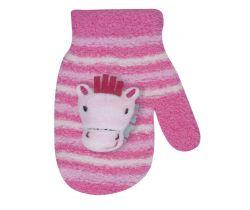 Rukavičky s obrázkem Yo Pink Horse