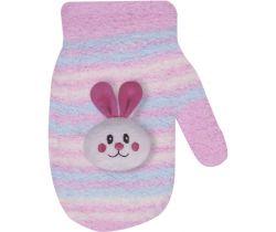 Rukavičky s obrázkem Yo Pink Rabbit