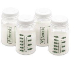 Sada 4 ks lahviček pro uložení mléka 120 ml Ameda