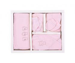Sada do porodnice 10ks Kitikate Basic Girl Pink