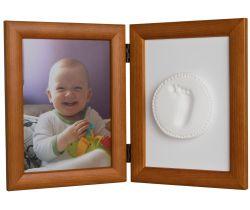 Sada pro otisk a fotku Hand Print hnědý rám