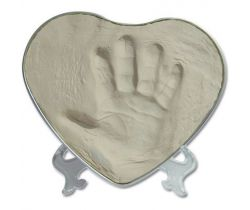 Sada pro otisk Happy Hands 2D Heart Silver/White