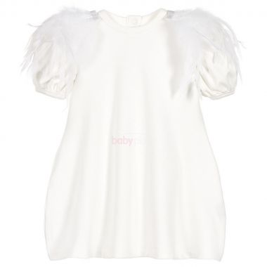 Šaty The Tiny Universe The Tiny Feathers White