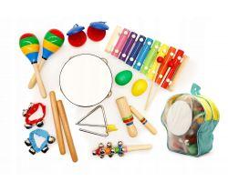 Set 10 ks hudebních nástrojů s batůžkem EcoToys