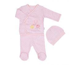Set 3ks Dreams Summer Newborn Girl Pink
