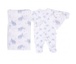 Set 3ks Kitikate Elephant Grey