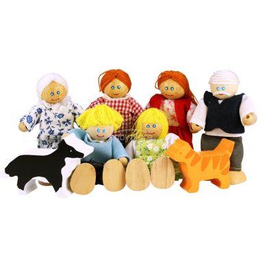 Set rodinky do domečku Bigjigs Toys 8ks