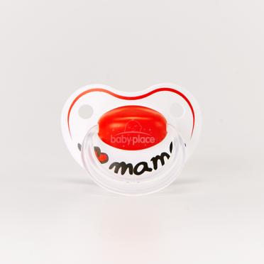 Šidítko anatomické silikonové Bibi Happiness I Love Mama