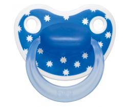Šidítko anatomické silikonové Bibi Happiness Lovely Dots blue