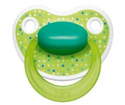Šidítko anatomické silikonové Bibi Happiness Lovely Dots green