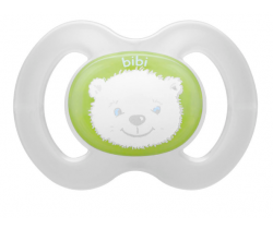 Šidítko anatomické silikonové Bibi Happiness Newborn Teddy