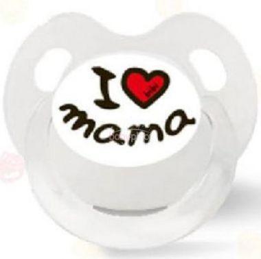Šidítko anatomické silikonové Bibi I Love Mama