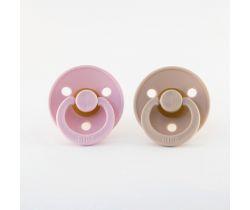 Šidítko kulaté Kaučuk 2 ks Bibs Baby Pink-Blush