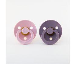 Šidítko kulaté Kaučuk 2 ks Bibs Baby Pink-Lavender