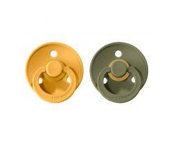 Šidítko kulaté Kaučuk 2 ks Bibs Colour Honey Bee / Olive