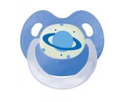 Šidítko silikonové anatomické Bibi Basic Care Vesmír modrá