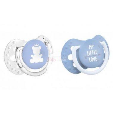 Šidítko silikonové dynamické 2 ks Lovi My Little Love modrá