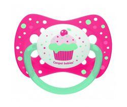 Silikonové symetrické šidítko Canpol Let´s Celebrate Pink Cake