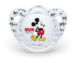 Silikonové anatomické šidítko Nuk Mickey transparent