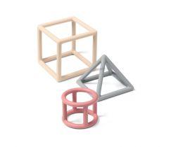 Silikonové kousátko 3 ks BabyOno Geometric