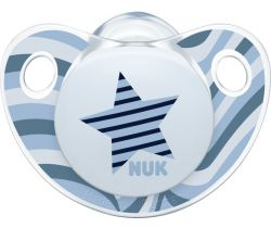 Silikonové šidítko Nuk Trendline Adore Hvězdička