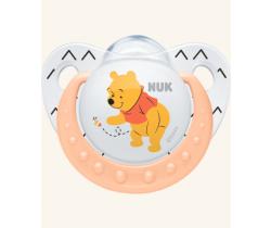 Silikonové šidítko Nuk Winnie The Pooh růžová