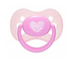 Silikonové šidítko třešinka Canpol Pastels Pink Heart