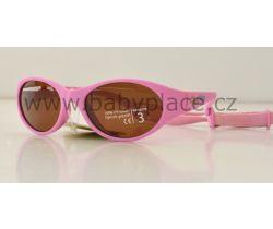 Sluneční brýle pro děti s gumičkou Crazy Dog Kids pink