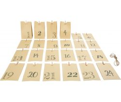 Adventní kalendář Small Foot Papírové taštičky