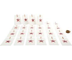 Adventní kalendář Small Foot Papírové bílé taštičky