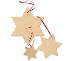 Dekorace Small Foot 15 ks Dřevěné hvězdy