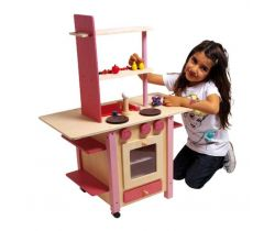 Dětská dřevěná kuchyňka vše v jednom Small Foot Růžová