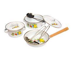 Dětské kovové nádobí s motivem ovoce 8 kusů Small Foot