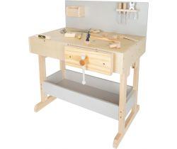 Dětský pracovní stůl šedý s nářadím Small Foot