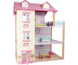Domeček pro panenky Small Foot Růžová vila