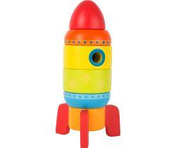 Barevná raketa Small Foot Dřevěná