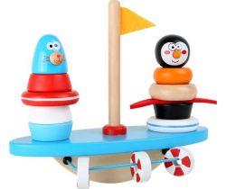 Dřevěná motorická balanční hra Small Foot Jžní pól